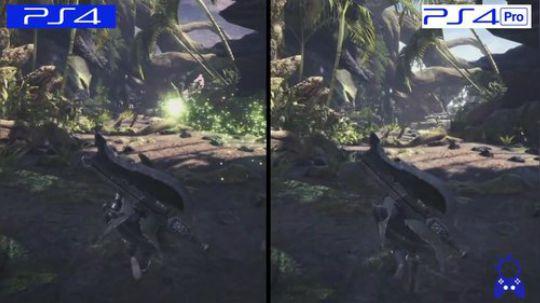Monster Hunter World | PS4 vs PS4 Pro | GRAPHICS COMPARISON | Comparativa