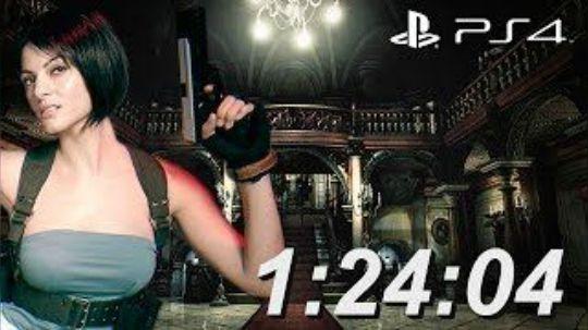 PS4版 生化危机1重制版 吉尔篇速通 1:24:04