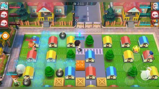 《爆爆堂》是一款3D即时竞技类休闲手游,创意源自炸弹人玩法。玩家通过炸弹、宠物提升实力,挑战NPC或其他玩家,争夺名次体现荣誉。游戏以即时战斗为基础,玩家操作自身角色释放炸弹,躲避炸弹,获取道具,让玩家在手游平台同样能感受到绚丽的战斗环境,以及酣畅淋漓的战斗爽快感。