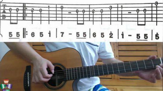 三叶36分钟学会吉他弹唱 第9集:祝你生日快乐.