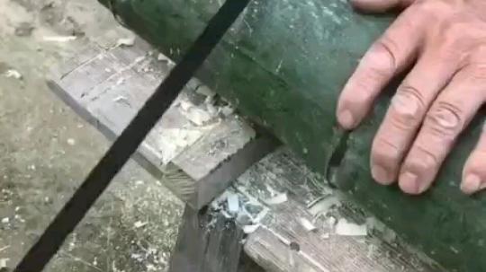 手工竹筒饭