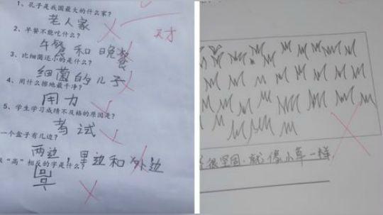 有才的网友:现在小学生的脑洞真是大,老师都被逼疯了哈哈哈