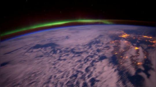 国际空间站日出日落精彩镜头