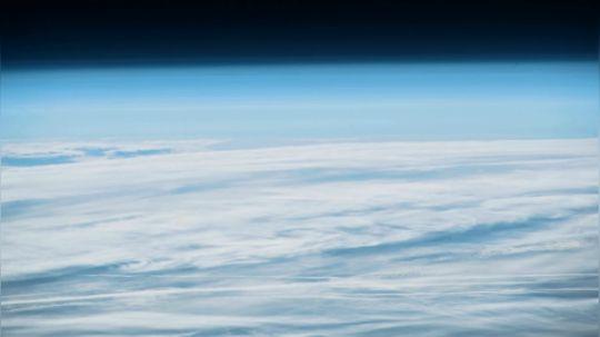 联盟号航天器发射从太空看到的间隔拍摄