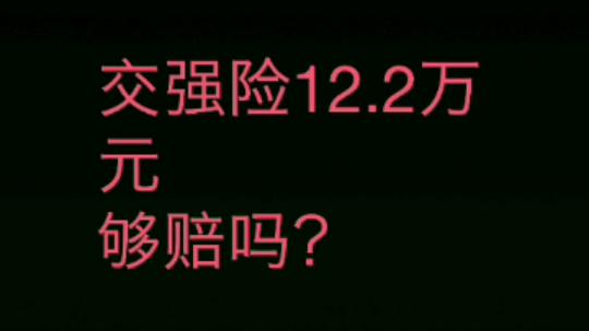 大老李说法第1期:交强险12.2万够赔吗?