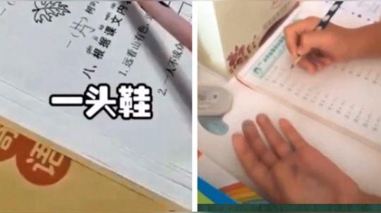 有才的网友:不写作业母慈子孝,一写作业鸡飞狗跳