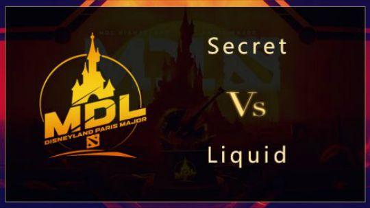 MDL巴黎总决赛Secret-Liquid第一局