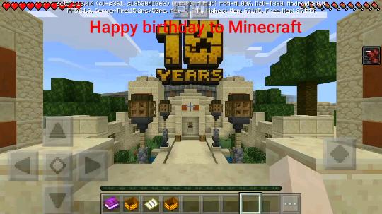 我的世界10周年快乐!?