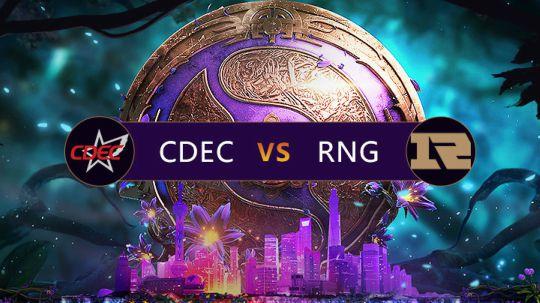 TI9中国区预选决赛RNG-CDEC第五局