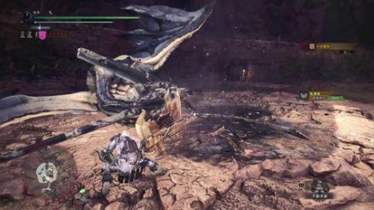 【PS4】MHW盾斧——风漂龙坠机片断