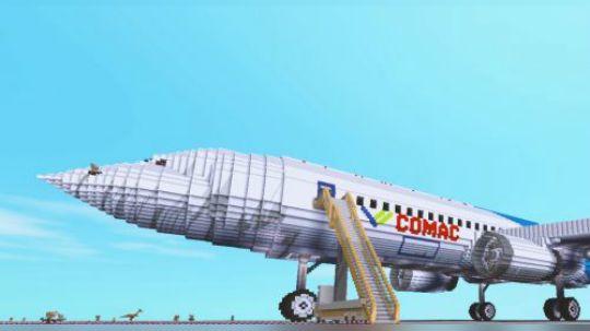 """迷你世界里出现了中国大飞机,泡面为你科普""""中国大飞机"""""""