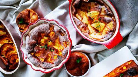 蛋奶香裹着水果香,丝丝儿透出来,暖暖的捧着, 舀上一勺,你比烤碗更可爱
