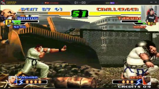 拳皇2000楼十杯线上战 剑圣向来都是威胁之一