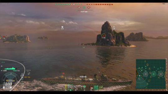 战舰世界10级驱逐舰岛风视频
