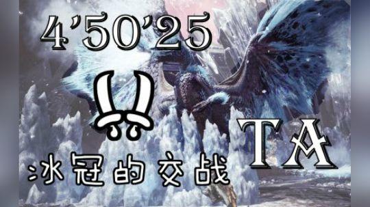 MHWI 双剑 冰咒龙TA规则 4分50秒 无衣装无烟