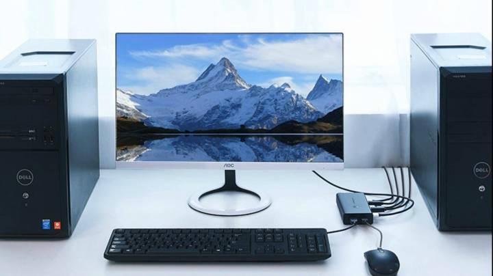 莊主:電腦遠程控制與UP一些奇怪的需求!一鼠鍵顯示器控制兩臺主機!電腦雙控!KVM!