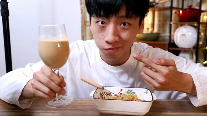 精神小伙自制港式奶茶,光茶葉就用了三種,味道真的好喝嗎?